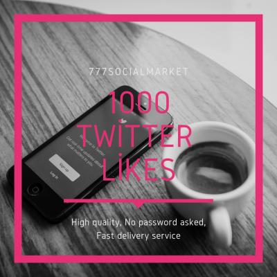 BUY 1000 TWITTER LIKES